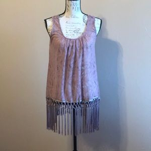 Mauve crocheted top